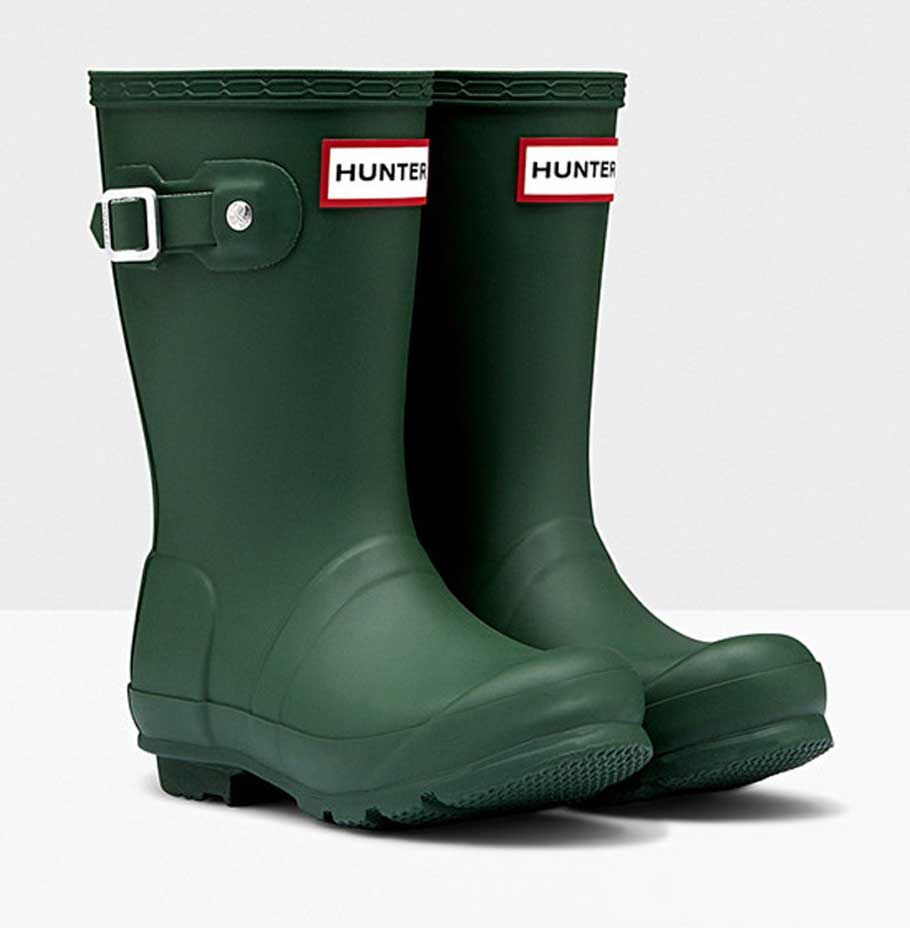 Kids Hunter Original Wellington Boot - Green