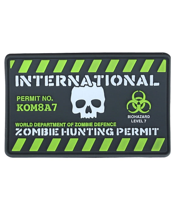 Zombie Hunting Permit Patch