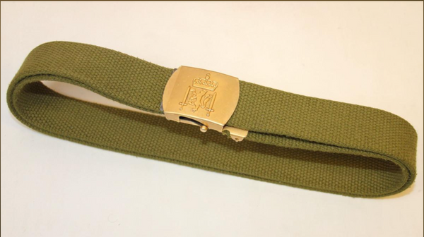 Danish Army Green Cotton Belt