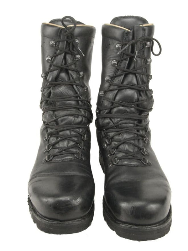 Austrian Army Black Leather Combat Boots (Fully Lined)