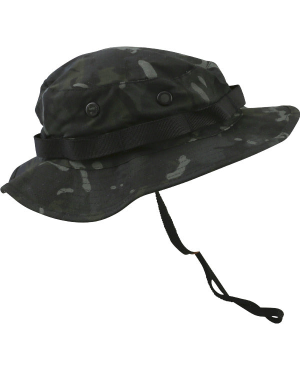 Kombat Boonie Hat - US Style Jungle Hat - BTP Black