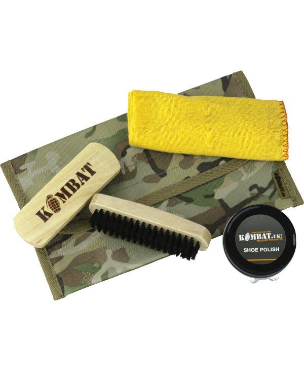 Kombat Military Boot Care Kit - BTP w/ Brown Polish