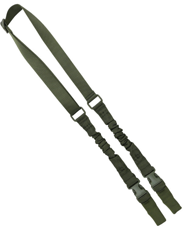 Kombat Double Point Bungee Sling - Olive Green