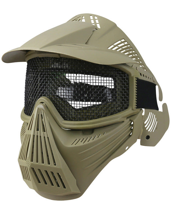 Kombat Full Face Mesh Mask - Coyote
