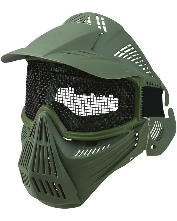 Kombat Full Face Mesh Mask - Olive Green