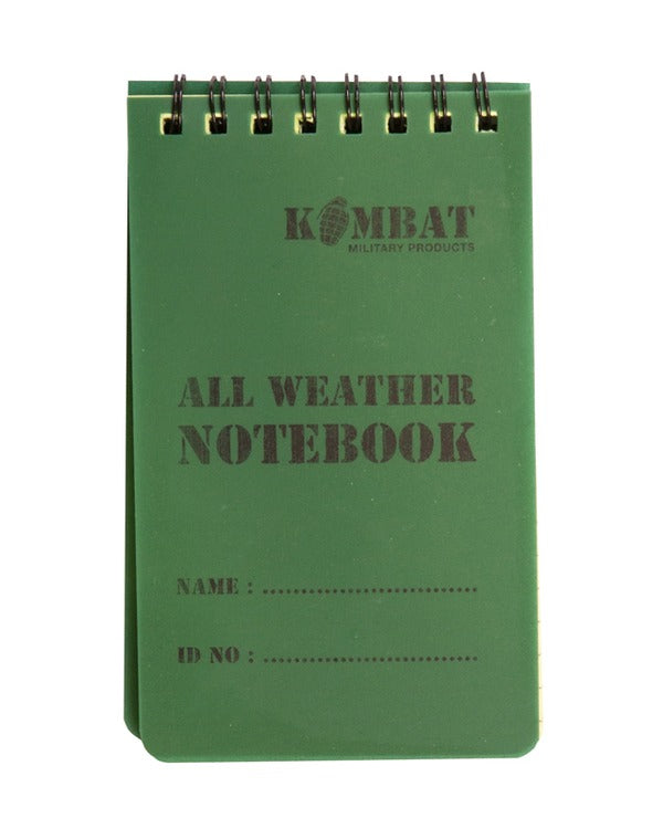 Kombat Mini Waterproof Notebook