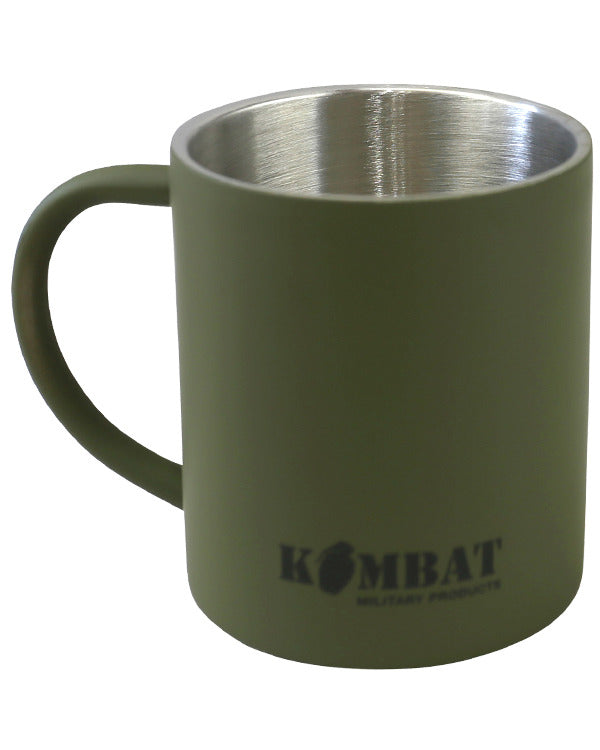 Kombat Stainless Steel Mug 330ml - Olive Green