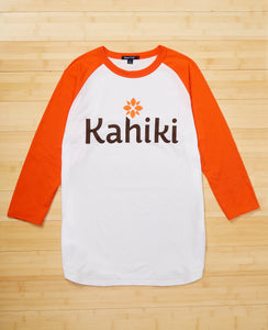 Kahiki Orange Baseball Tee (Unisex)