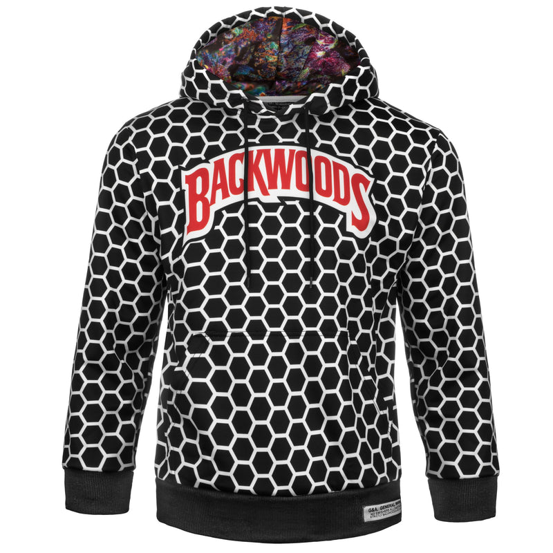 Black and White Backwoods Hoodie