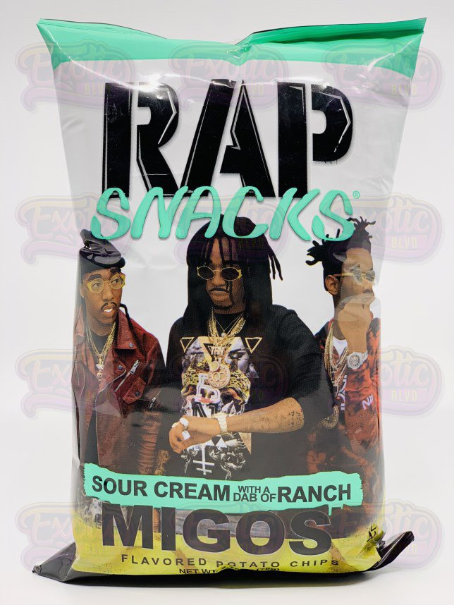 Rap Snacks Migos Sour Cream With A Dab Of Ranch