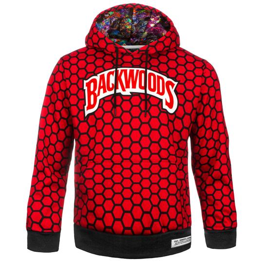 Red and Black Backwoods Hoodie