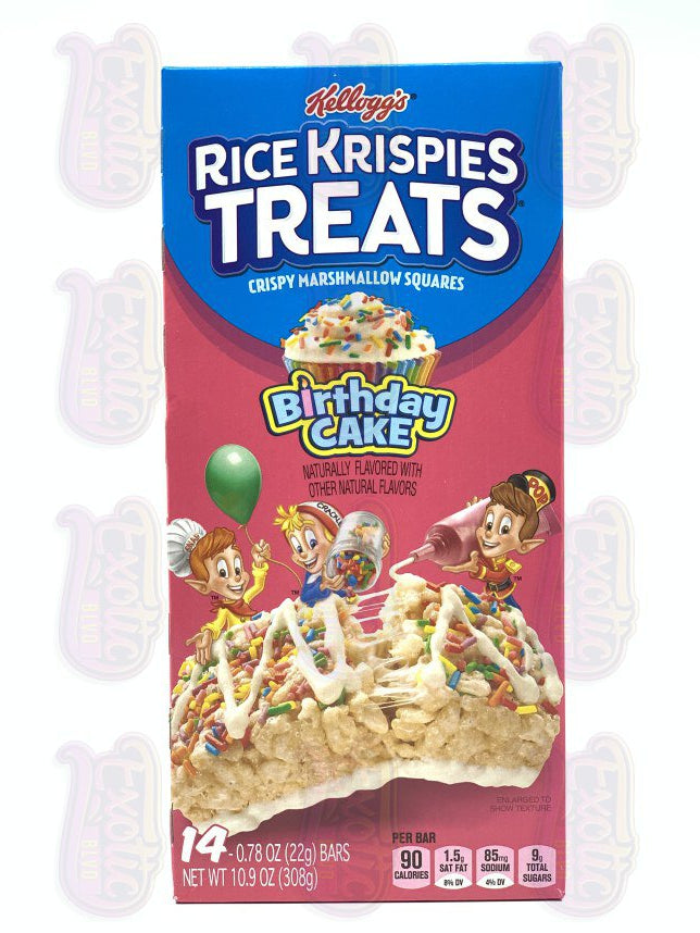 Rice Krispies Treats Birthday Cake
