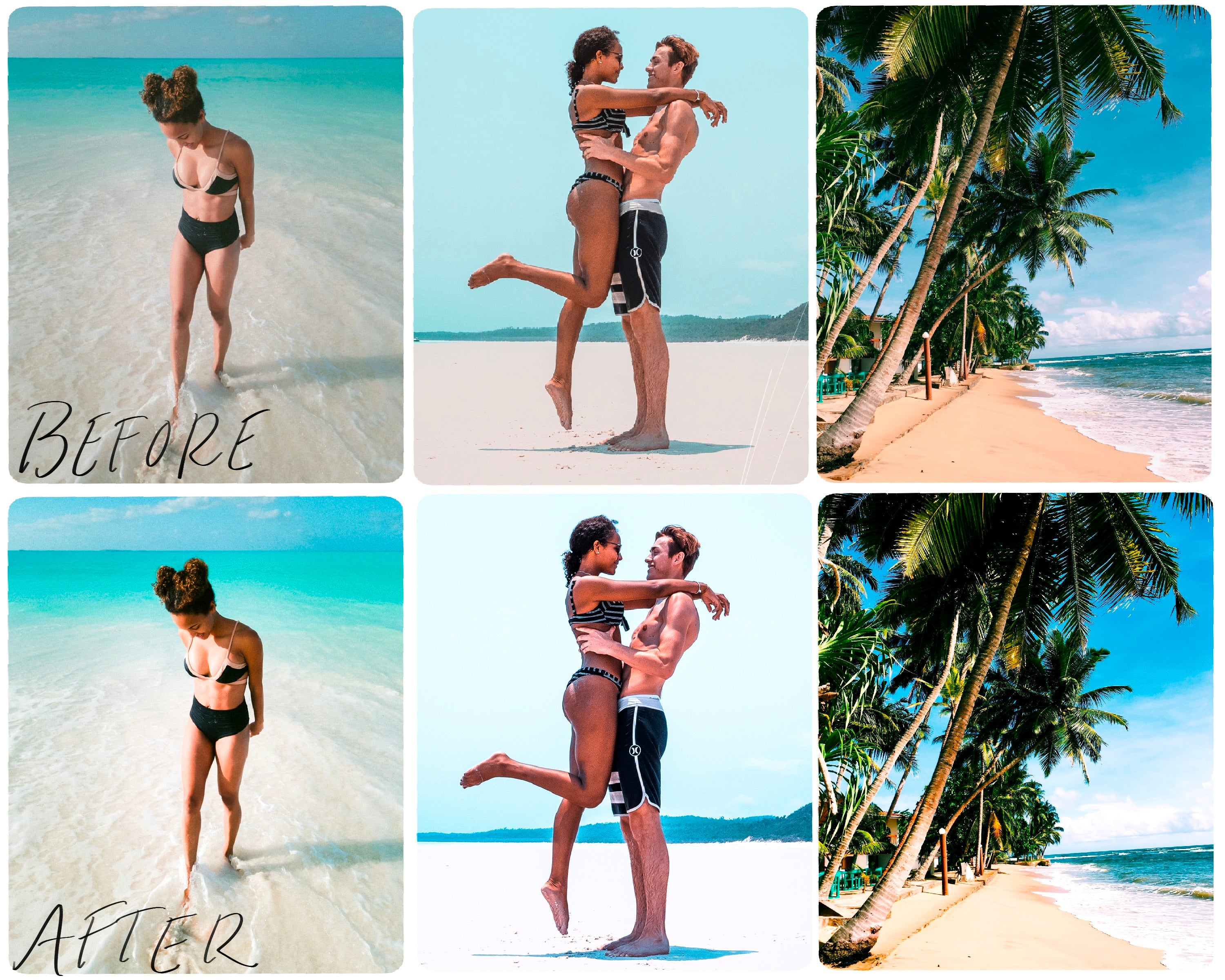 5 Beach Mobile Lightroom Presets, Photo Editing Presets, Lightroom Mobile Presets, Summer Photos Preset for Instagram, Bloggers-Roam Wild Designs