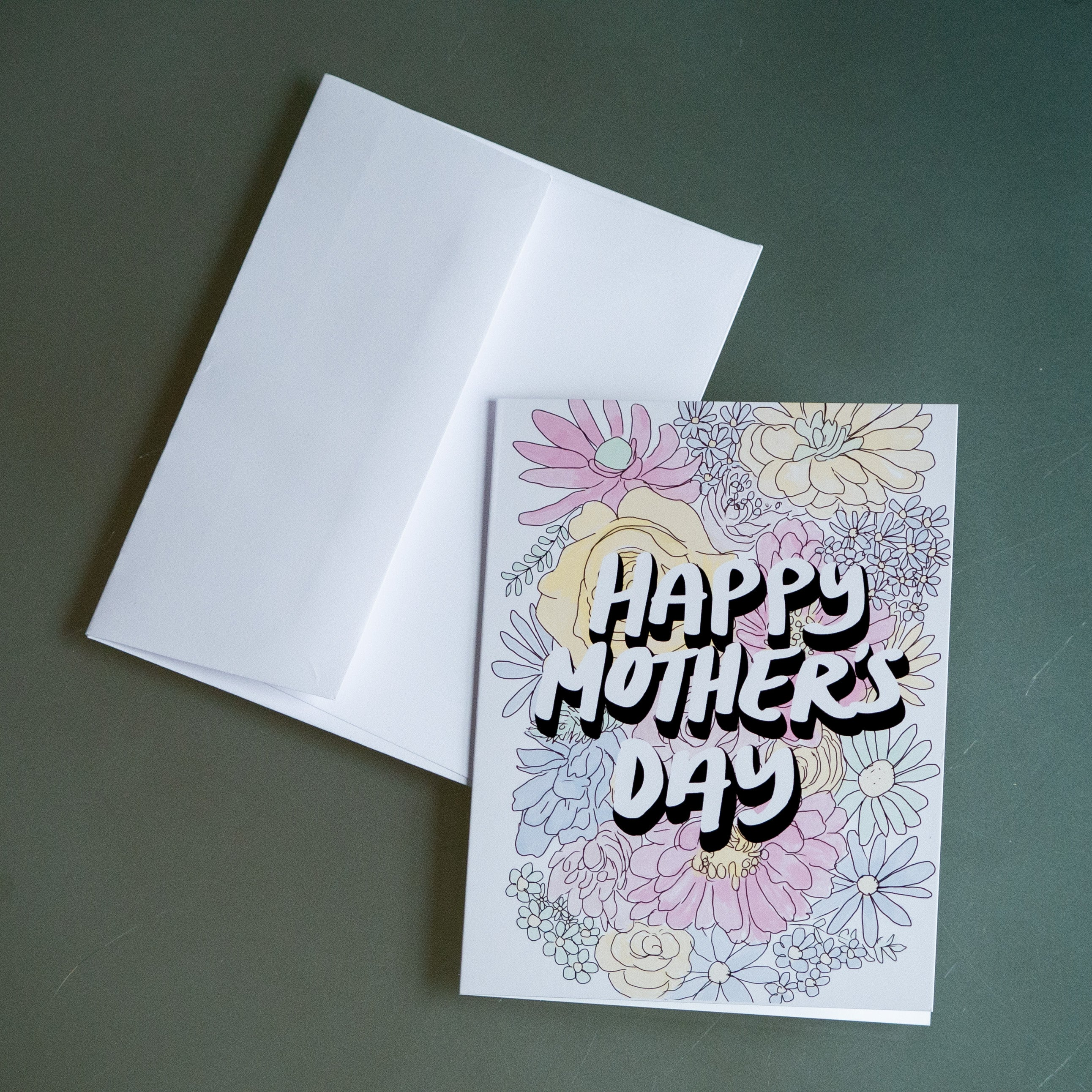 Happy Mother's Day Flowers Greeting Card-Card-Roam Wild Designs