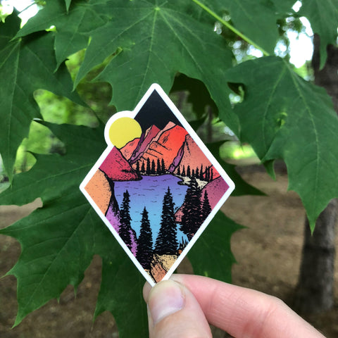 Diamond Pines in the Moonlight Sticker-Vinyl Sticker-Roam Wild Designs