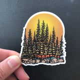 Sunset Island Sticker-Vinyl Sticker-Roam Wild Designs