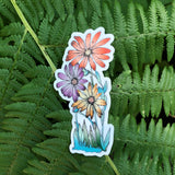 Flower Power Sticker-Vinyl Sticker-Roam Wild Designs