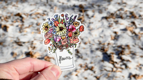 Garden Flowers Sticker-Vinyl Sticker-Roam Wild Designs