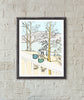 Coffee at the Cabin Art Print-Print-Roam Wild Designs