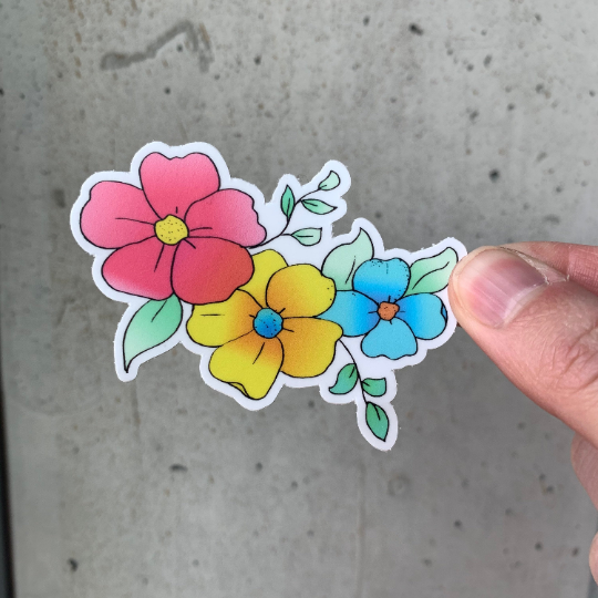 Flower Vines Sticker-Vinyl Sticker-Roam Wild Designs