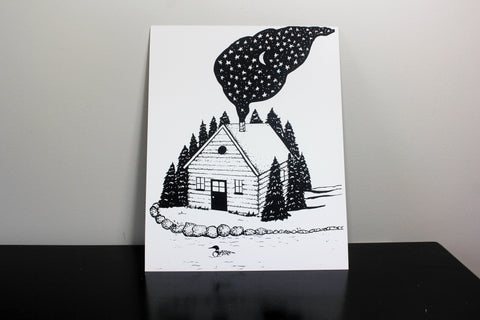 Cabin in the Woods 11x14inch Print