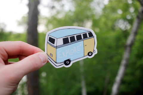 Explorer Van Sticker-Vinyl Sticker-Roam Wild Designs