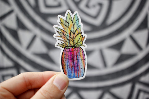 cool colorful pineapple sticker