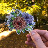 dahlia flower sticker