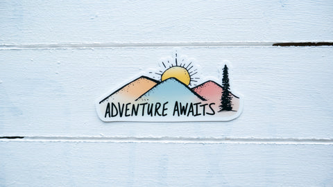 Adventure Awaits Vinyl Sticker-Vinyl Sticker-Roam Wild Designs