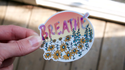 Breathe Vinyl Sticker-Vinyl Sticker-Roam Wild Designs