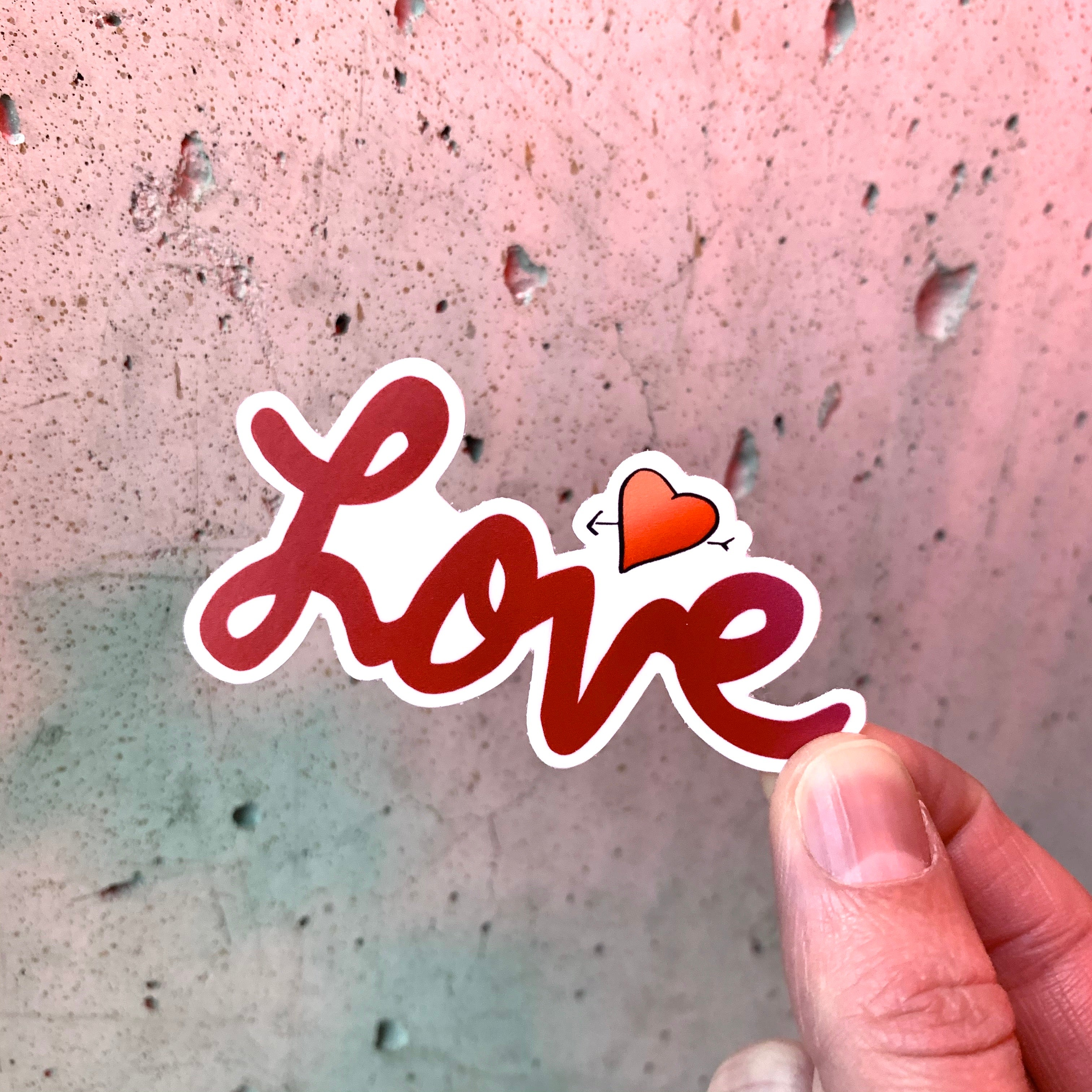 Love Sticker-Vinyl Sticker-Roam Wild Designs