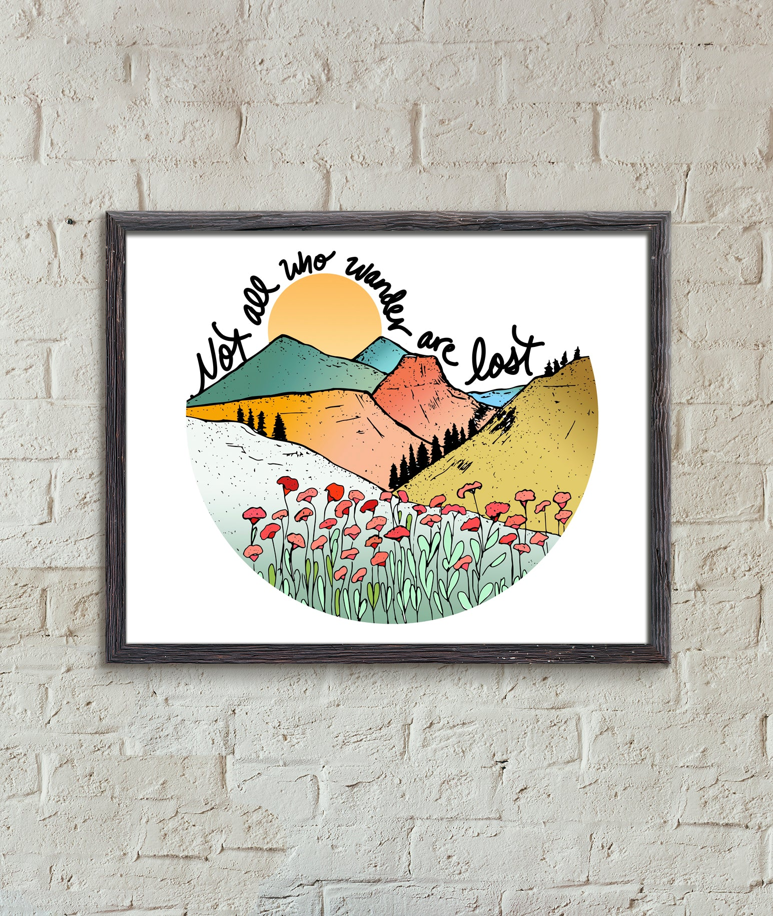 Not all Who Wander Art Print-Print-Roam Wild Designs