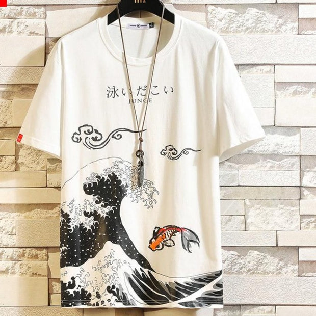 Anime Print Oversized Men T Shirt - GIGI & POPO