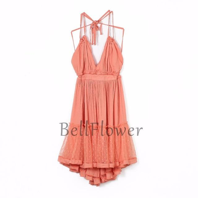 Bellflower Strapless Boho Summer Dress Women 2020 Lace Sexy Beach Dresses Ball Gown Hippie Bohemian Woman Dress XS Plus Size - GIGI & POPO