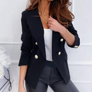 Blazers and Jackets Double Breasted Blazer Coat - GIGI & POPO