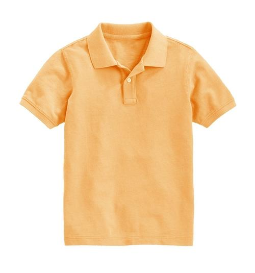Boys Short Sleeve Classic Pique Polo Shirt, Ages 5-14 Years - GIGI & POPO