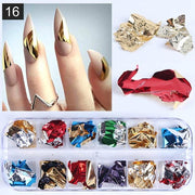 Colorful Bronze Stickers Nail Art Metal - GIGI & POPO