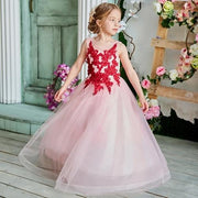Girl's Prom Wedding Bridesmaid Long Dress with Lace - GIGI & POPO