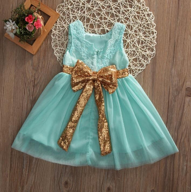 Kids Baby Girl Dresses Clothing Tops Bow Party - GIGI & POPO