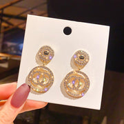 Luxury Rhinestone Geometric Drop Earrings - GIGI & POPO