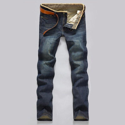 Men Casual Mid-Rise Straight Denim Jeans - GIGI & POPO