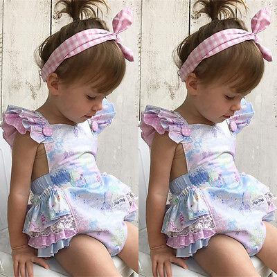 New Sweet Baby Girls Floral Romper Jumpsuit Outfits - GIGI & POPO