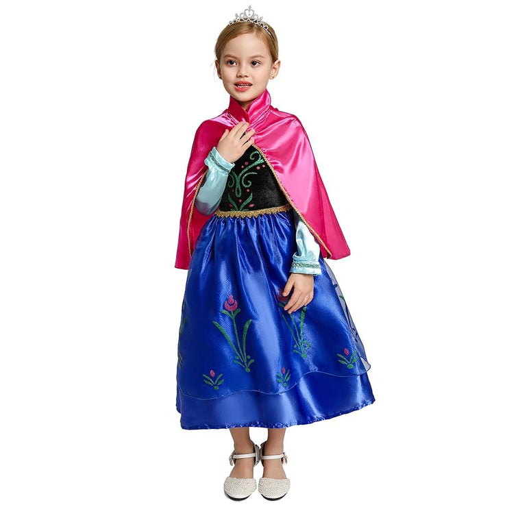 Princess Anna (Frozen) Girls Costume Dress - GIGI & POPO