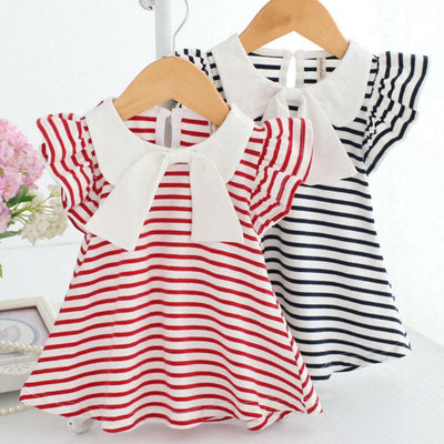 Sleeveless Big Bow Cute Multi colour Summer New Girl Dress - GIGI & POPO
