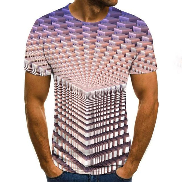 Summer 3D printed men's T-shirt - GIGI & POPO