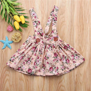 Summer Fashion Toddler Kids Baby Girls Floral Printing Sleeveless Bib Strap Tutu Dress - GIGI & POPO