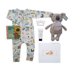 Baby hamper, newborn hamper, new mum hamper, baby shower hampers, baby boy hampers, baby girl hampers, unisex baby hampers - Koala Dreamer
