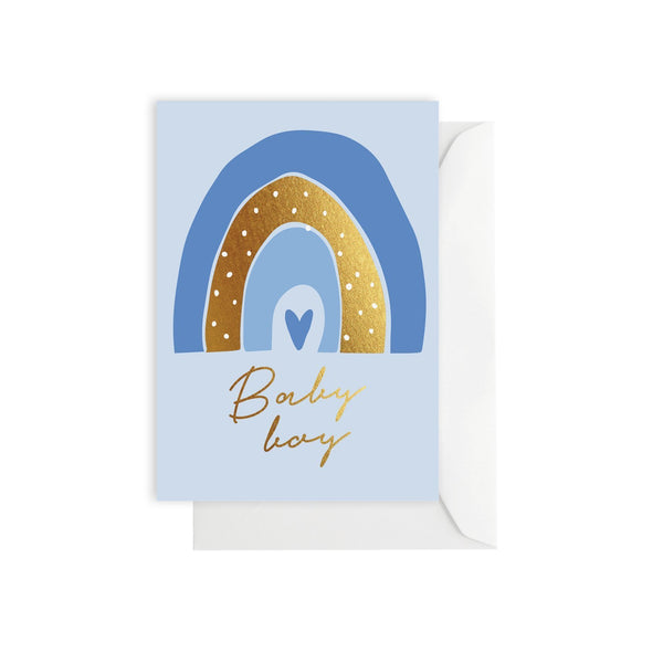 Rainbow Baby Boy Greeting Card