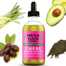Load image into Gallery viewer, Hair Growth Chebe Infused Oil (4 oz. Hair Growth Oil)