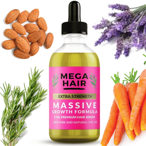 Mega Hair Co. Extra Strength Hair Serum (4 oz. Hair Growth Oil)